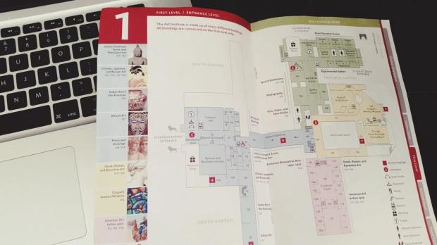 Arts institute map